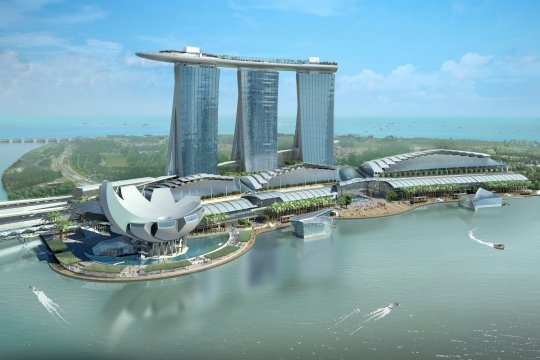 Marina bay sands la piscine la plus haute du monde for Singapour marina bay sands piscine
